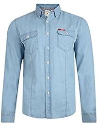 Lee Cooper Charrisworth camisa de tela vaquera de manga larga de algodón