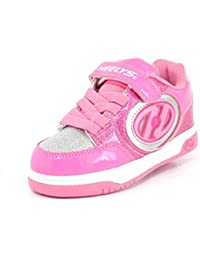 Heelys X2 Plus Lighted Shoes - Neon Pink / Light Pink / Silver