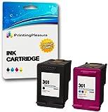 Printing Pleasure 2 XL Druckerpatronen für HP DeskJet 1000, 1050, 1050A, 1050S, 1055, 2000, 2050, 2050A, 2050S, 2050se, 2054A, 2510, 2540, 3000, 3010, 3050, 3050A, 3050S, 3050se, 3050ve, 3052A, 3054A, 3055A | kompatibel zu HP 301XL (CH563EE & CH564EE)