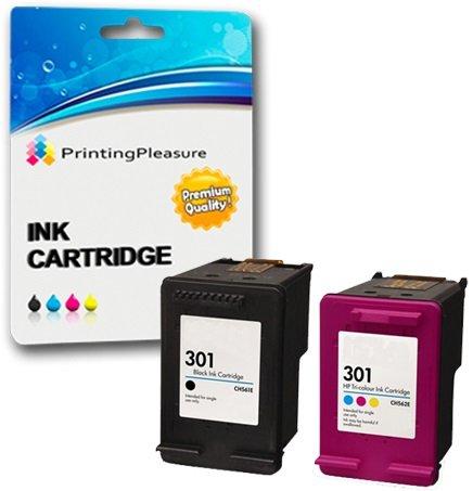 Printing Pleasure 2 XL Cartucce d'inchiostro compatibili per HP DeskJet 1000 1050 1050A 1050S 2050 2050A 2050se 2510 2540 3000 3050 3050A 3052A 3055A | Sostituzione per HP 301XL (CH563EE & CH564EE)