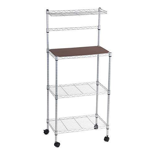 Carro de almacenamiento, estante para panadería de 3 niveles para la cocina...