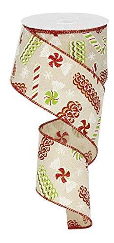 Ribbon Candy Weihnachten Draht Rand Band-6,3cm X 10Meter 2.5