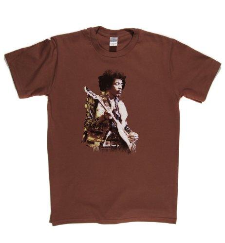 Jimi Hendrix Purple Haze Guitar Live Psychedelic Rock T-shirt Braun