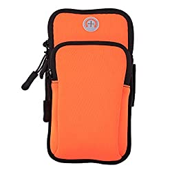 Aeoss Waterproof Sport Armband Unisex Running Jogging Gym Arm Band Case Cover for Mobile iPhone 6s 6 Plus Phones till 5.7 inches (ORANGE)