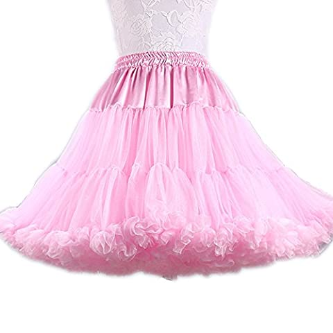 SCFL Adult Luxurious Soft Chiffon Petticoat Tulle Tutu Skirt Women's Tutu Costume Ballet Dance Puffy Skirt