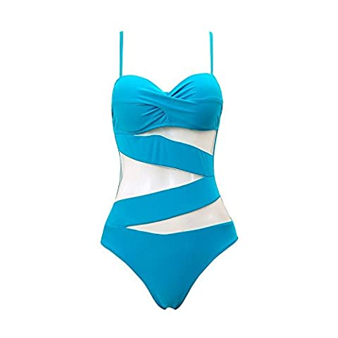 Yongyinv 2017NEUF Femme siamois Bikini Maillot de bain Europe et Amérique creux Bleu Forty-four