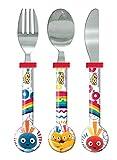 Twirlywoos Cutlery Set, Plastic, Multi-Colour, Set of 3