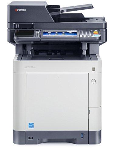 Kyocera Ecosys M6535cidn/KL3 Farblaser-Multifunktionsgerät (Drucker, Scanner, Kopierer, Fax, 600 x 600 dpi, USB 2.0, Duplex)