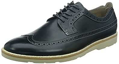 Clarks Gambeson Limit, Chaussures de ville homme - Bleu (Dark Blue Lea), 42 EU (8 UK)