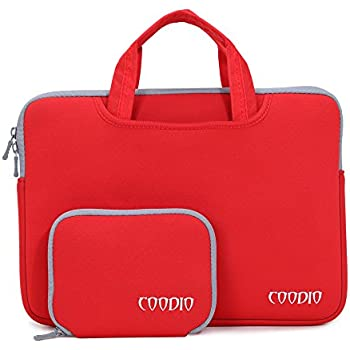Coodio® Universal 13.3 Zoll Laptophülle Aktentasche Handtasche + Zubehör Tasche für Apple Macbook Air, Macbook Pro Retina (Fit all 13.3 inch ultrabook laptop notebook) - Farbe Rot