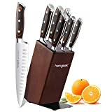 homgeek Knife Set with Block, Kitchen Knife Set with German 1.4116 Stainless Steel