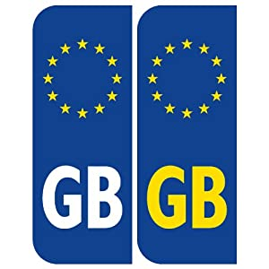 GB Number Plate Stickers