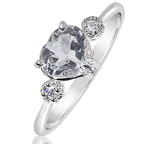 77c2847b0e3b Anillo Mujer Compromiso Oro y Diamantes - Oro Blanco 9 Quilates 375  Diamantes 0.03 Quilates -