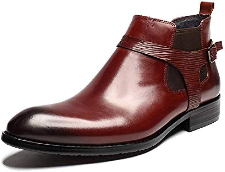 NIUMT Scarpe in Pelle da Uomo Inverno Stivali Europei E Americani Stivali Martin Punta Casual Wearable | Raccomandazione popolare  | Sig/Sig Ra Scarpa