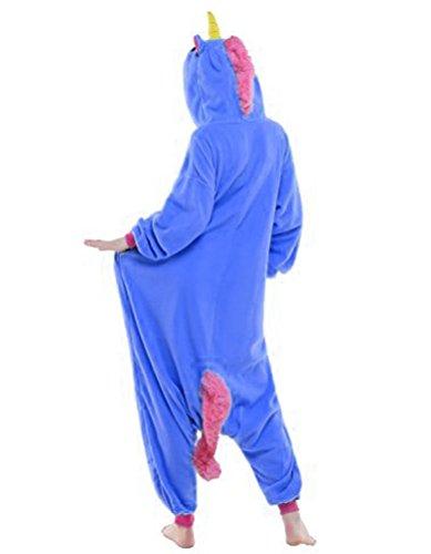 Très Chic Mailanda Karneval Halloween Pyjamas Schlafanzug mit Kapuze Erwachsene Cosplay Kostüm Dunkelblau
