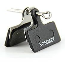SOMMET Pastillas Freno Disco Semi-metálico para Shimano Deore M615 / SLX M666 M675 / XT M785 / XTR M960 M985 M988 / Alfine S700