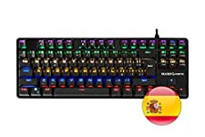 Mars Gaming MK4 MINI - Teclado gaming mecánico (iluminación 6 colores, 8 perfiles, 10 efectos luz, 16 teclas control funciones, antighosting, switch OUTEMU azul, layout ES/US)