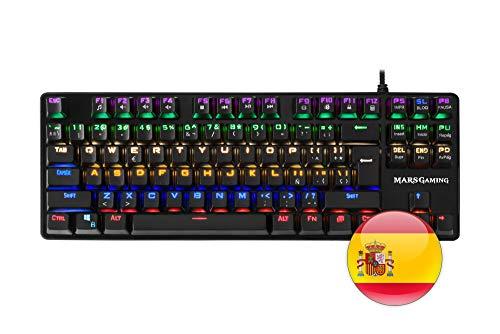 Mars Gaming MK4 MINI - Teclado gaming mecánico (iluminación 6 colores, 8...