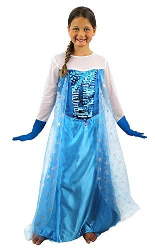 ILOVEFANCYDRESS Ice Queen Kleid Mädchen Kostüm Kinder Film Outift Snow Princess Kleid Film Charakter Buch Woche (Ice Princess Fancy Dress Kostüm)