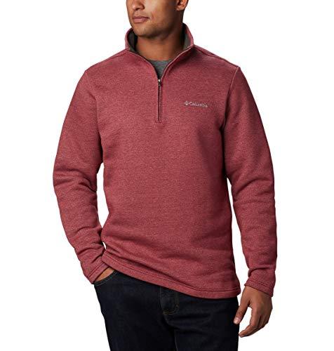 Columbia Herren Hart Mountain III Half Zip Pullover, Roter Jaspis Heather, XX-Large -