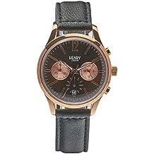 Henry London Unisex-Armbanduhr Harrow Chronograph Quarz Leder HL39-CS-0054 (Zertifiziert und Generalüberholt)