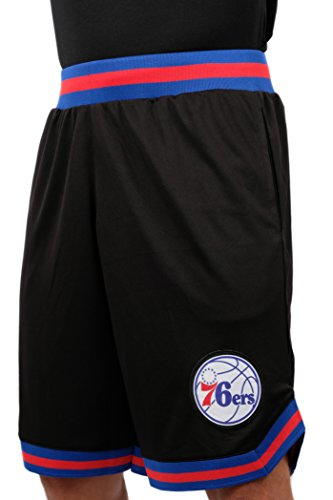 NBA Herren Mesh Basketball Shorts Woven Active Basic, Team Logo schwarz, Herren, GSM3547F, schwarz, X-Large