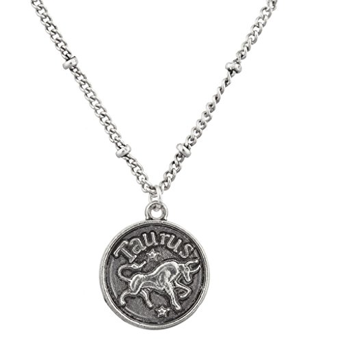 lux-accessories-burnish-silver-taurus-astrological-pendant-charm-necklace
