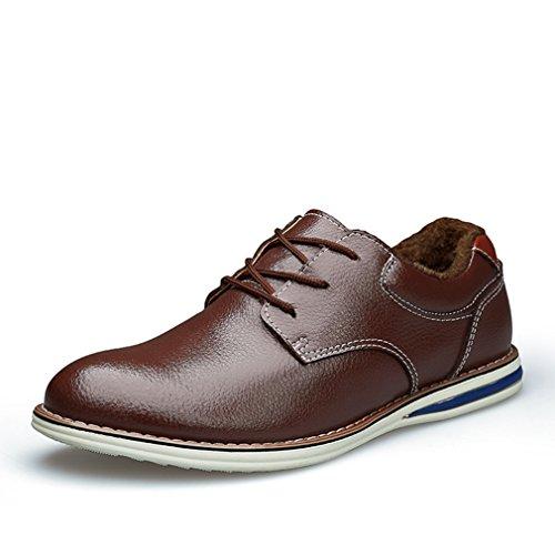 Hommes Loisirs Chaussures à Lacet en Cuir Souple Respirent Loisir Derby Mode Duvet brun duvet