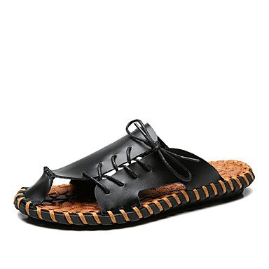 Slippers & amp da uomo;Pelle Primavera Estate Comfort Ufficio & amp esterna;Carriera piano casuale Lui sandali US10 / EU43 / UK9 / CN44