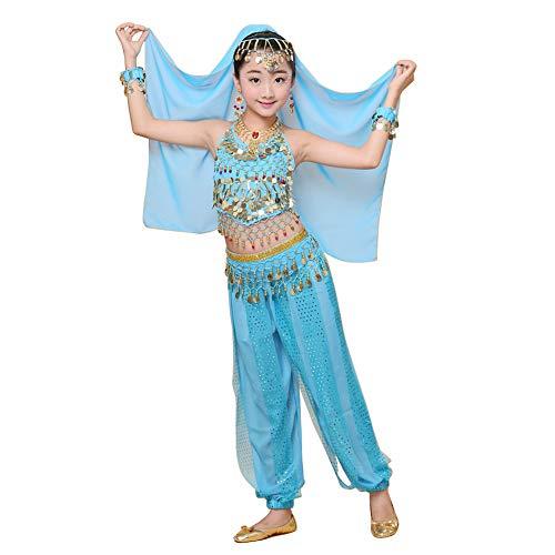 Yudesun Bauchtanz Mädchen Kostüm Röcke - Tanzsport Bekleidung Tanzkostüm Agypten Halloween Karnevalsparty Bollywood Indianer Kostüm (Bollywood Kostüm Kinder)