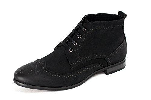 Jas Hommes Décontracté Cheville Bottes Mode Chelsea Chaussures Faux Suede Élégant Uk 6 7 8 9 10 11 Noir