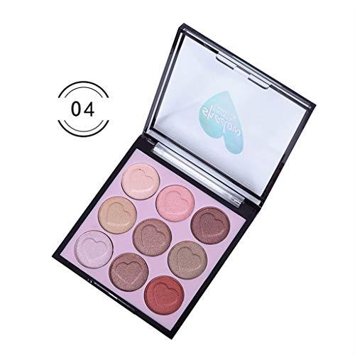 LEEDY Palette De Maquillage Des Yeux CosméTiques Ombre À PaupièRes Set Avec Pinceau 9 Couleurs