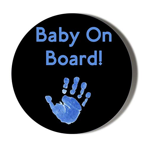 Gift Insanity Baby ON Board Blue Hand ON Black 45mm Novelty Badge -