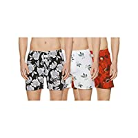 Longies Men's Printed Boxers (Pack of 3) (LGBOXPO3187_Multicoloured_X-Large)