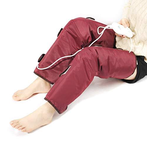 HIXGB Kniebandage,Elektrische Heizung Knieschützer,Sauna Heizung Spa Entgiftung Elektrische Abnehmen Beine Gürtel Elektrische Vibration Oberschenkel Kalb Gewicht Verlieren Fettverbrennung Gerät - Kälber Gewichte Für