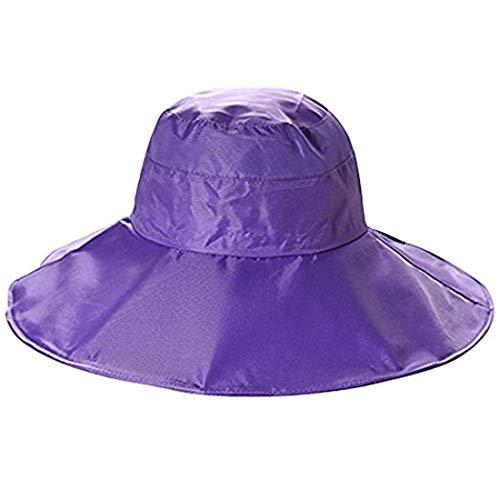 BeFur wasserdicht Raincap Eimer Hüte Regenmütze Regenhut Regenkappe Sonnenhut Fischerei Jagd Kappen - purple
