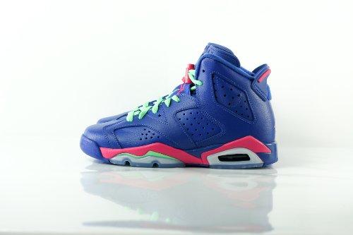 Nike Air Jordan 6 Retro Gg, Scarpe da Corsa Bambina, Blu Purple