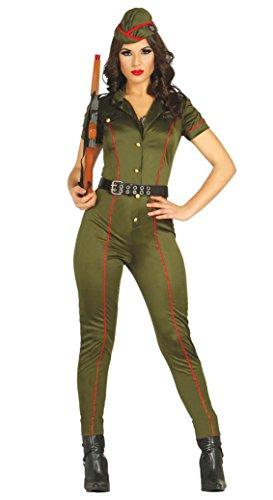 Militärische Overall aus weiblicher Soldat Kostüm Größe (Weibliche Soldat Kostüm)