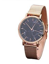 Reloj mujer plata ❤ Amlaiworld Moda Relojes niña Reloj de pulsera de acero  inoxidable con superficie de mármol para… 1a591f725850