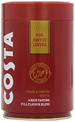 Costa Roast and Ground Coffee 250g, Full Flavour Blend by Costa
