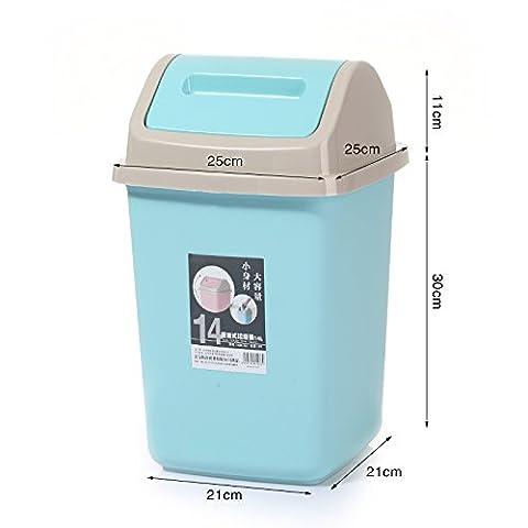 Küchen-Abfalleimer fuckluy Home Schlafzimmer Wohnzimmer Küche Tür, ein großes Bad, große Ventildeckel, Blau