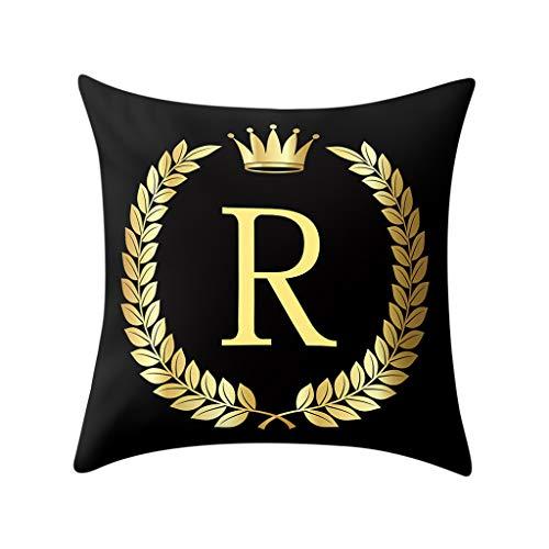 WUDUBE Eleganter Kopfkissenbezug aus schwarzem Roségoldleder im schlichten britischen Stil im modernen Stil. Dekorativer Sitz (45x45 cm)