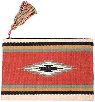 Amichi, Bolso étnico de mano - Mujer - Rojo