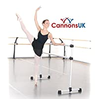 Cannons UK Freestanding and portable Ballet/stretch Barre. (Silver)