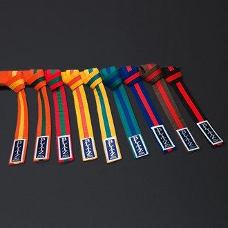 Blitz Colour Stripe Belt - Yellow/Green, 250 cm