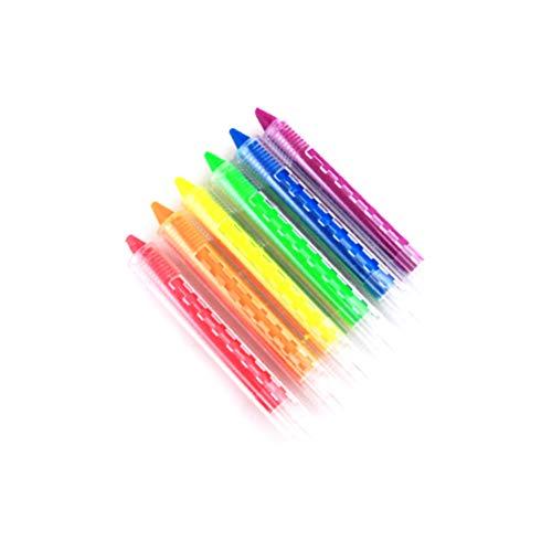 Kakakooo 6pcs Gesichts-Farben-Zeichenstifte Kit-Körper-Tätowierung Malerei Bleistifte Pens Sticks ungiftige Kinder Zubehör für Halloween, Make-Up, Cosplay, Party 6pcs (LC03005 Style)