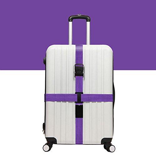 Preisvergleich Produktbild Koffergurt Surenhap Gepäckgurt verstellbare Kofferband mit Zahlenschloss,  Modische und praktisch(Lila)