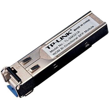 TP-Link TL-SM321A Module d'Extension SFP WDM Bidirectionnelle sur Fibre Optique 1000 Base-BX TX 1550nm / RX 1310nm Monomode jusqu'à 10 km