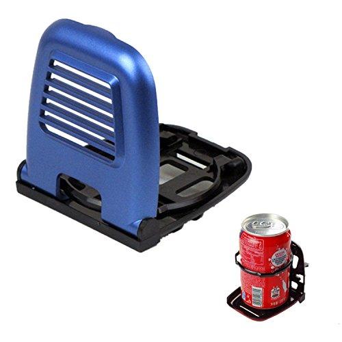 Wasser Tray (KFZ Getränke Ständer Getränkehalter Auto Auslass Air Vent Faltbare Getränkehalter Cola Becherhalter Tray Halter Wasser Cupholder (Blau))