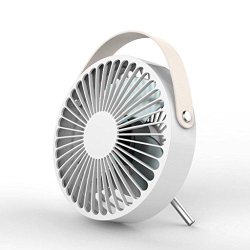 GHFDSJHSD Mini-Fan, tragbarer USB-Fan, Desktop-Small-Fan, Mute Low Noise für Office-Desktop, White